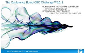 Conference Board, CEO Challenge 2013